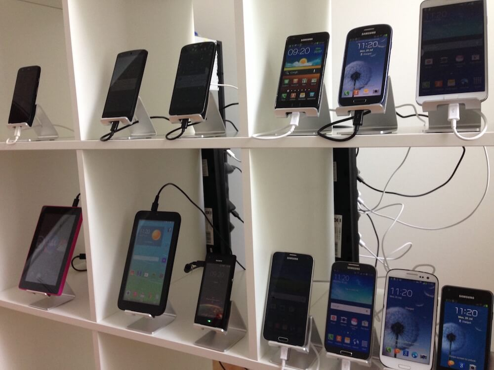 Mobiles in the Remo lab, photo taken by Piotr