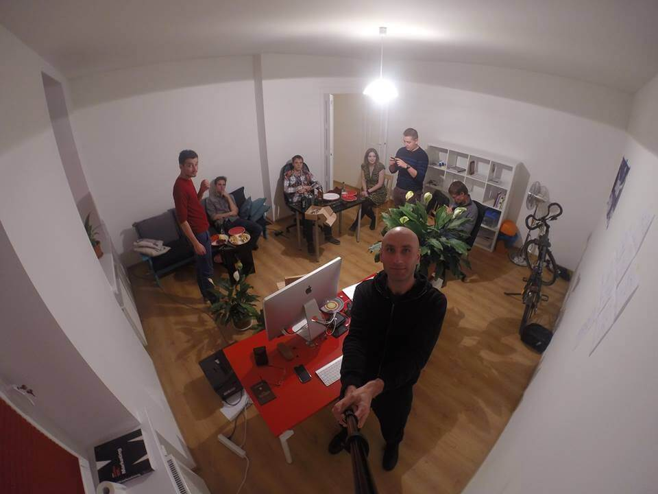 A modest office party, goproed by Krzysztof
